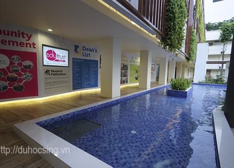 Khung cảnh lãng mạn của khu học xá JCU Singapore được đại diện Eduzone ghi lại vào tháng 11/2015
