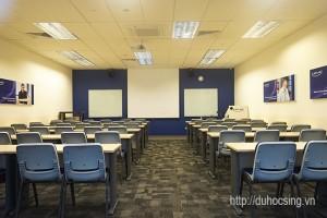 Phòng học của Kaplan Singapore. Ảnh do anh Nguyễn Đăng Hiển chụp trong một lần thăm và làm việc với Kaplan