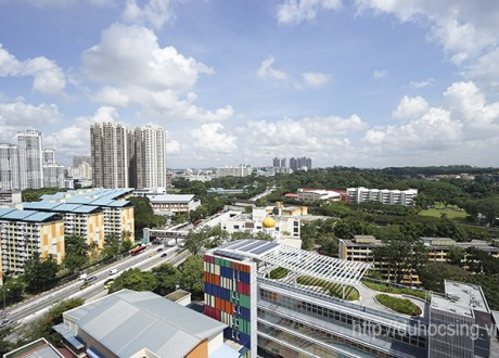 Một góc Singapore nhìn từ KTX của trường MDIS Singapore