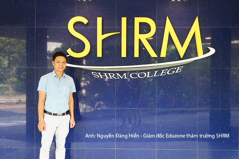 Anh Nguyễn Đăng Hiển - Giám đốc Eduzone trong một lần thăm và làm việc với SHRM