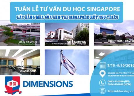 Tuần lễ du học Singapore: Lấy bằng thạc sĩ của Anh tại Singapore chỉ với 450 triệu