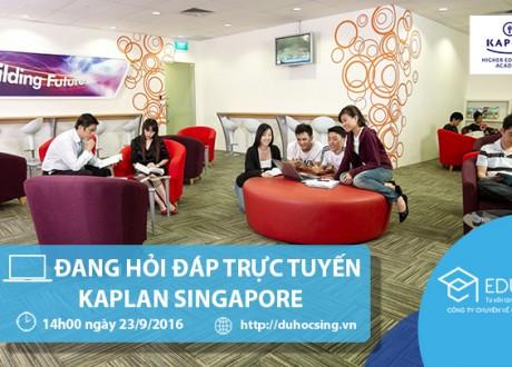 Nội dung tư vấn trực tuyến với đại diện Học viện Kaplan Singapore