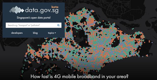 Giao diện cổng thông tin Data.gov.sg