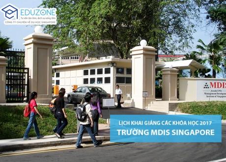 Lịch khai giảng các khóa học của MDIS Singapore 2017