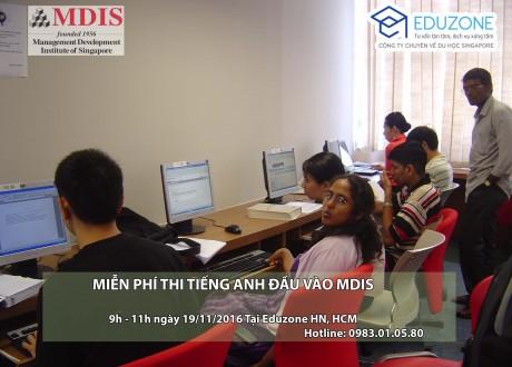 MDIS Singapore tổ chức thi tiếng Anh đầu vào miễn phí ngày 19/11/2016