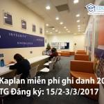 Chương trình miễn phí ghi danh 2017 của Học viện Kaplan Singapore