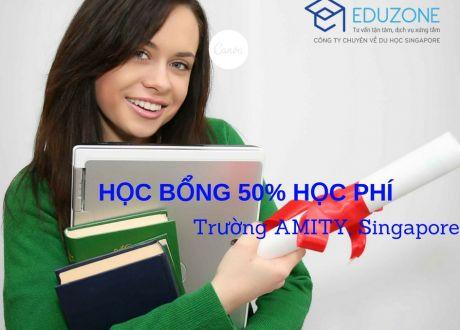 Học bổng 50% học phí tại trường Kinh doanh quốc tế AMITY, Singapore