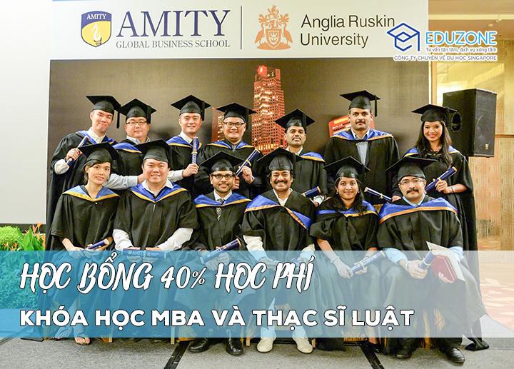 Học bổng 40% khóa MBA và Thạc sĩ Luật tại AMITY, Singapore