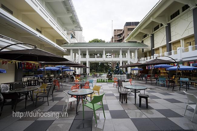 Một góc khu học xá mới của JCU Singapore