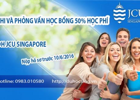 Thi học bổng trị giá 50% học phí trường JCU Singapore