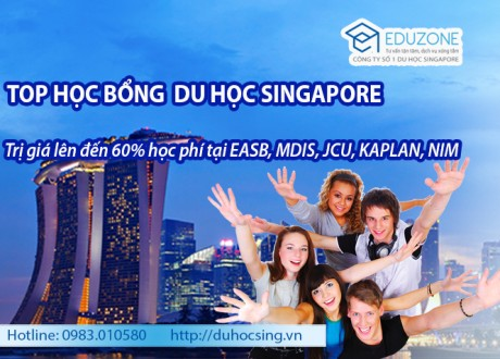 Top học bổng du học Singapore có giá trị cao nhất 2016