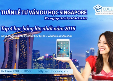 Tuần lễ tư vấn du học Singapore từ ngày 30/5 – 5/6/2016