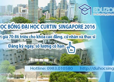 Học bổng Curtin Singapore 2016