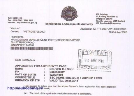 Chúc mừng em Nguyễn Thị Ninh đã đạt visa