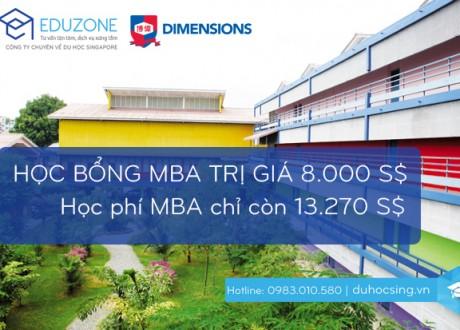 Lấy bằng MBA UK ở Singapore với học phí chỉ 13.270 S$