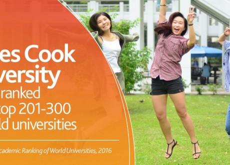 Đại học James Cook lọt top 3% các trường đại học trên thế giới