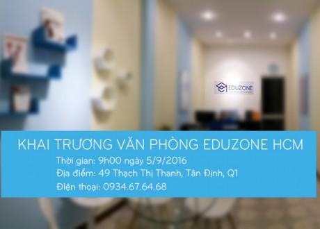 Thư mời tham dự lễ khai trương văn phòng Eduzone Tp. Hồ Chí Minh