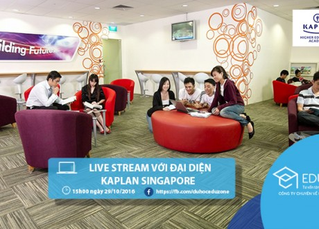 Live stream (trực tiếp) với đại diện từ trường Kaplan Singapore