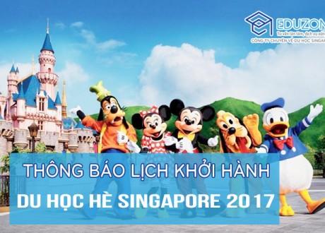 Thông báo: Hành trình bay của Đoàn Du học hè Singapore 2017
