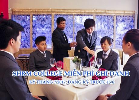 Chương trình miễn phí ghi danh trường SHRM College