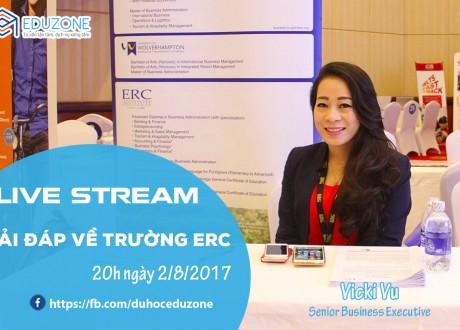 Livestream: Du học Singapore tại ERC – Trường hàng đầu ngành Kinh tế