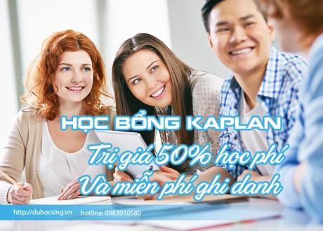 Học bổng 50% học phí của Kaplan Singapore nhập học T12/2018