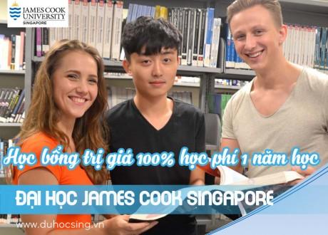 Học bổng toàn phần 1 năm học tại Đại học James Cook Singapore