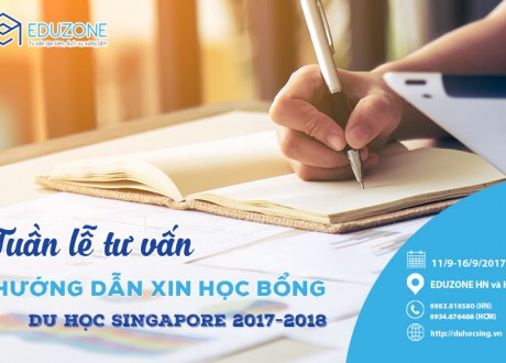 Hướng dẫn thủ tục hồ sơ học bổng Du học Singapore 2017 (Đợt cuối)