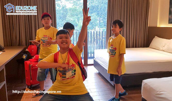 Nơi ở của các con tại Du học hè Singapore 2018