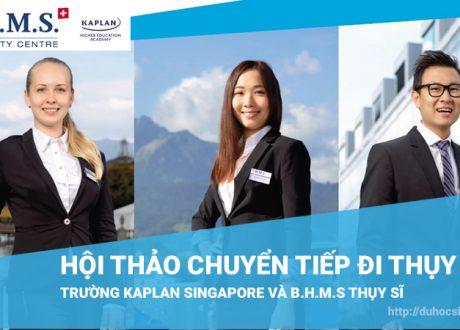 Hội thảo du học Singapore chuyển tiếp Thụy Sĩ, visa 100%