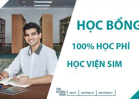 Học bổng 100% học phí tại Học viện SIM kỳ nhập học tháng 10/2021