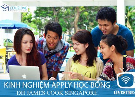 Chia sẻ trực tuyến: Kinh nghiệm xin học bổng ĐH JCU Singapore 2019