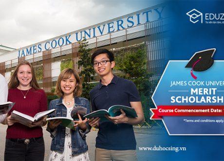 Học bổng ĐH James Cook Singapore 2019 kỳ nhập học tháng 11/2019