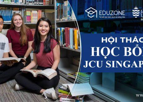 Hội thảo trực tuyến giải đáp Học bổng lên tới 100% trường ĐH James Cook Singapore