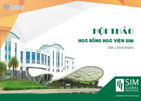 Hội thảo trực tuyến: Học bổng 100% học viện SIMGE Singapore 20h ngày 19/4/2020
