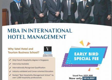 Học bổng Thạc sĩ Quản trị khách sạn QT – Trường SHD Singapore